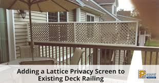 Deck Handrail Adding A Lattice Privacy Screen To Existing Deck Railing Png