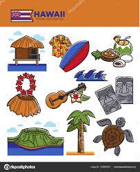 Hawaiian Flag Hawaii Travel Tourism Landmarks U2014 Stock Vector Sonulkaster