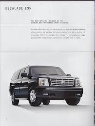 2003 cadillac sales brochure xlr cts escalade esv ext deville seville