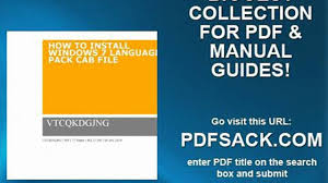 how to install windows 7 language pack cab file video dailymotion