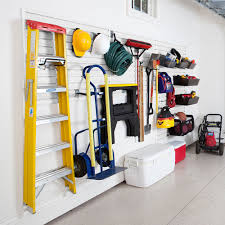 garage and hardware storage system white by flowwall