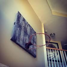 pallet old basketball hoop and backboard hoop was taken