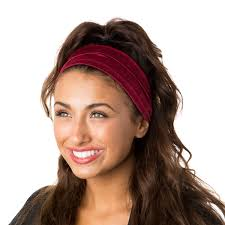 burgundy headband hipsy unisex adjustable spandex xflex crushed burgundy headband