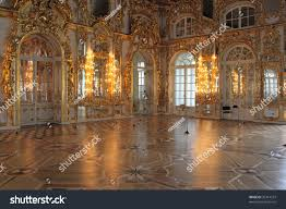 magnificent ballroom inside catherines palace tsarskoye stock