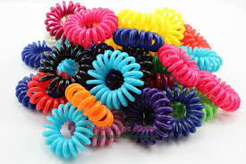 hair bands 100 pcs per lot small telephone coils girl women wire elastic