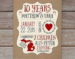 ten year anniversary gifts 10th anniversary gifts style by modernstork