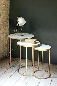side table furniture side table round nest 3 marble tables