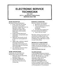 Job Description Of Pharmacy Technician For Resume by Electronic Technician Resume Sample Resume For Your Job Application