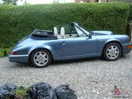 1990 porsche 911 blue 911 carrera 2 cabriolet