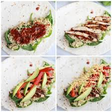 cuisine quinoa grilled tex mex chicken and quinoa wraps half baked harvest