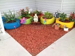 Upcycled Garden Decor Garden Decor Ideas With Car Rims And Tyres Upcycle Art