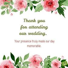 wedding wishes not attending thank you messages on cards that express gratitude