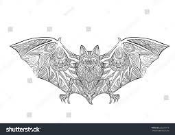 hand draw bat zentangle style stock vector 292678718 shutterstock