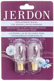 jerdon jpt25w 25 watt replacement light bulbs for