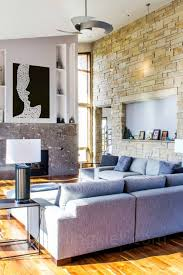 interior wonderful ideas of white stone wall living room brings
