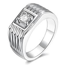 platinum crystal rings images Via mazzini platinum plated crystal proposal ring for boys and men jpg