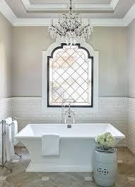 Bathrooms With Freestanding Tubs Best 25 Bathroom Chandelier Ideas On Pinterest Master Bath