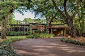 frank lloyd wright inspired home with lush landscaping florida architecture sunnybrook house frank lloyd wright usonian