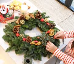 Homemade Christmas Wreaths by Diy Christmas Wreath With Lucy Felton