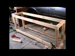 Plans For Making A Wooden Workbench by S U0026scustoms How To Build A Garage Workshop Workbench For Under