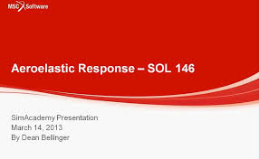 simacademy u2013 aeroelastic response analysis msc nastran video
