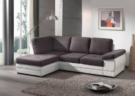 canapé d angle en solde canapé d angle contemporain convertible en tissu coloris gris foncé