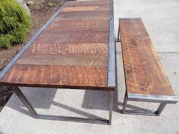 Industrial Bench 6 Ft Industrial Dining Table W Matching 5 Ft Industrial Bench