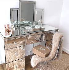 glass vanity table with mirror glass mirror desk dsellman site