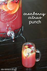 cranberry citrus punch recipe punch recipes holidays