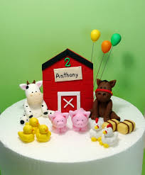 farm cake toppers farm birthday cake topper fondant farm animals with barn door and