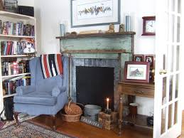 Shabby Chic Fireplace Mantels by Minneapolis Rustic Fireplace Mantels Living Room Traditional With