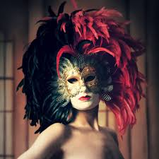 volto mask venetian mask in london for black royal feathered volto venetian