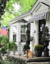 Awning Diy Simple Details Diy Black And White Awning Reveal