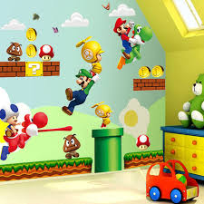 chambre mario mario bros mural wall decals sticker room decor