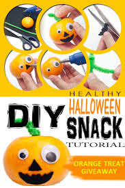 diy healthy halloween snack orange treat giveaway tutorial