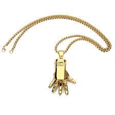 aliexpress buy nyuk mens 39 hip hop jewelry iced out nyuk pendant necklace rock gold manipulator iron mechanical