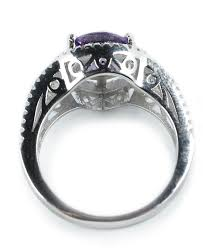 amethyst engagement rings luxurious antique 1 carat created amethyst engagement ring in 18k