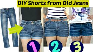 diy 3 easy ways to turn jeans into shorts shorts from old