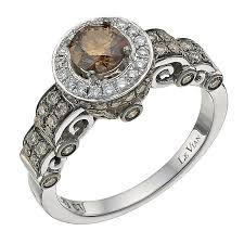 gold engagement rings uk le vian 14ct white gold 1ct chocolate diamond ring ernest jones