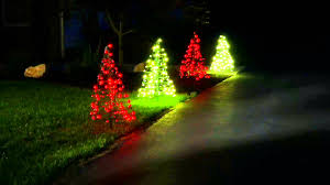 Outdoor Christmas Trees by S 2 Pre Lit Led 3 U0027 Fold Flat Outdoor Christmas Trees By Lori