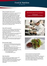 food u0026 nutrition summary st thomas more catholic academy