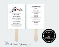 Diy Wedding Fans Templates Rustic Wedding Program Template Diy Wedding Program Fan Printable