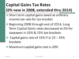 capital gains tax table 2017 capital gains losses including sale of home ppt download
