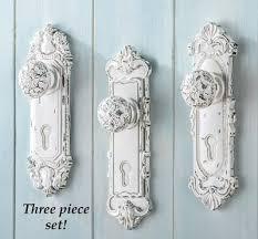 shabby chic doors set of 3 shabby chic country door knob