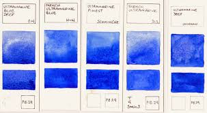 jane blundell artist watercolour comparisons 8 blues