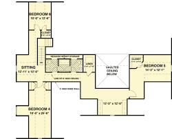 six bedroom floor plans country living with six bedrooms 20101ga architectural designs