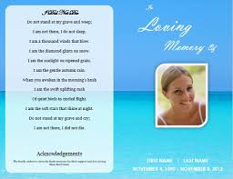 Cheap Funeral Programs Single Fold Beach Funeral Program Template For Download Printable
