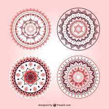 floral mandala ornament free vectors ui