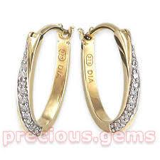 9ct gold hoop earrings 9ct gold diamond hoop earrings ebay