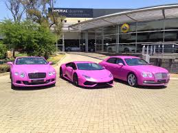 pink audi convertible bentley and lamborghini south africa go pink for breast cancer